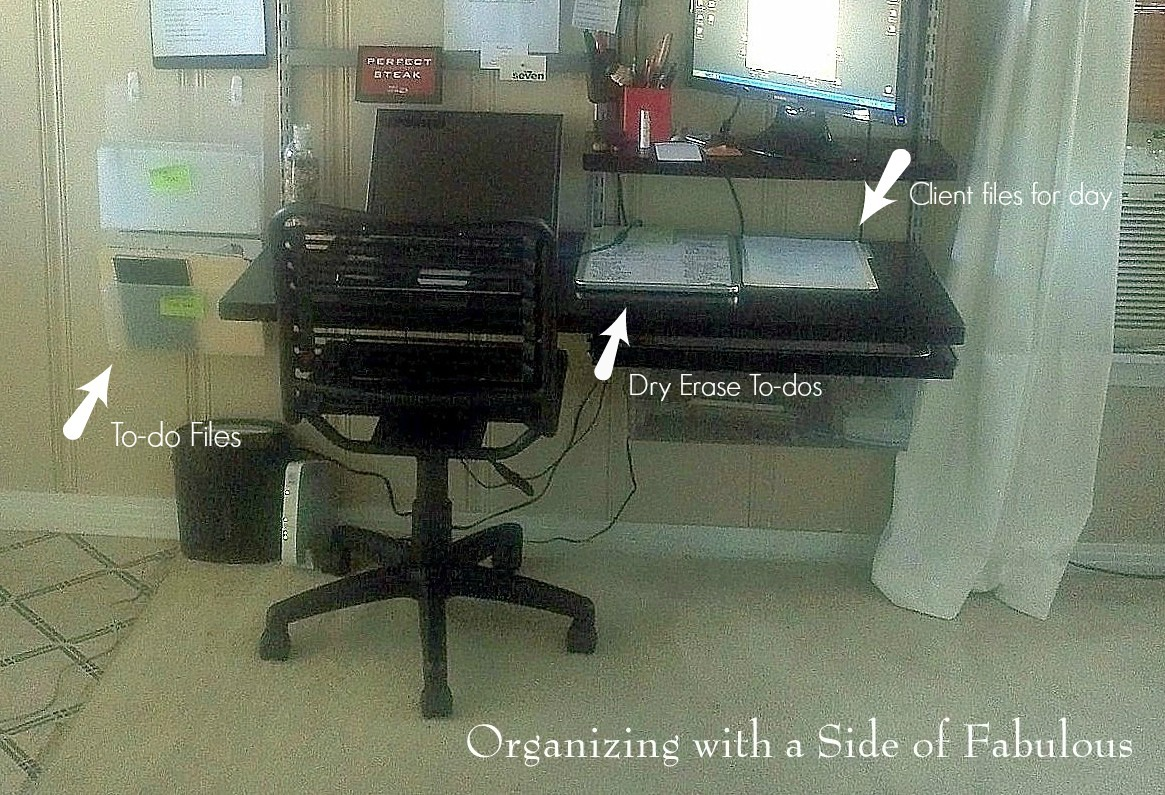 Desk To-Dos (detail) - Organizing with a Side of Fabulous Blog