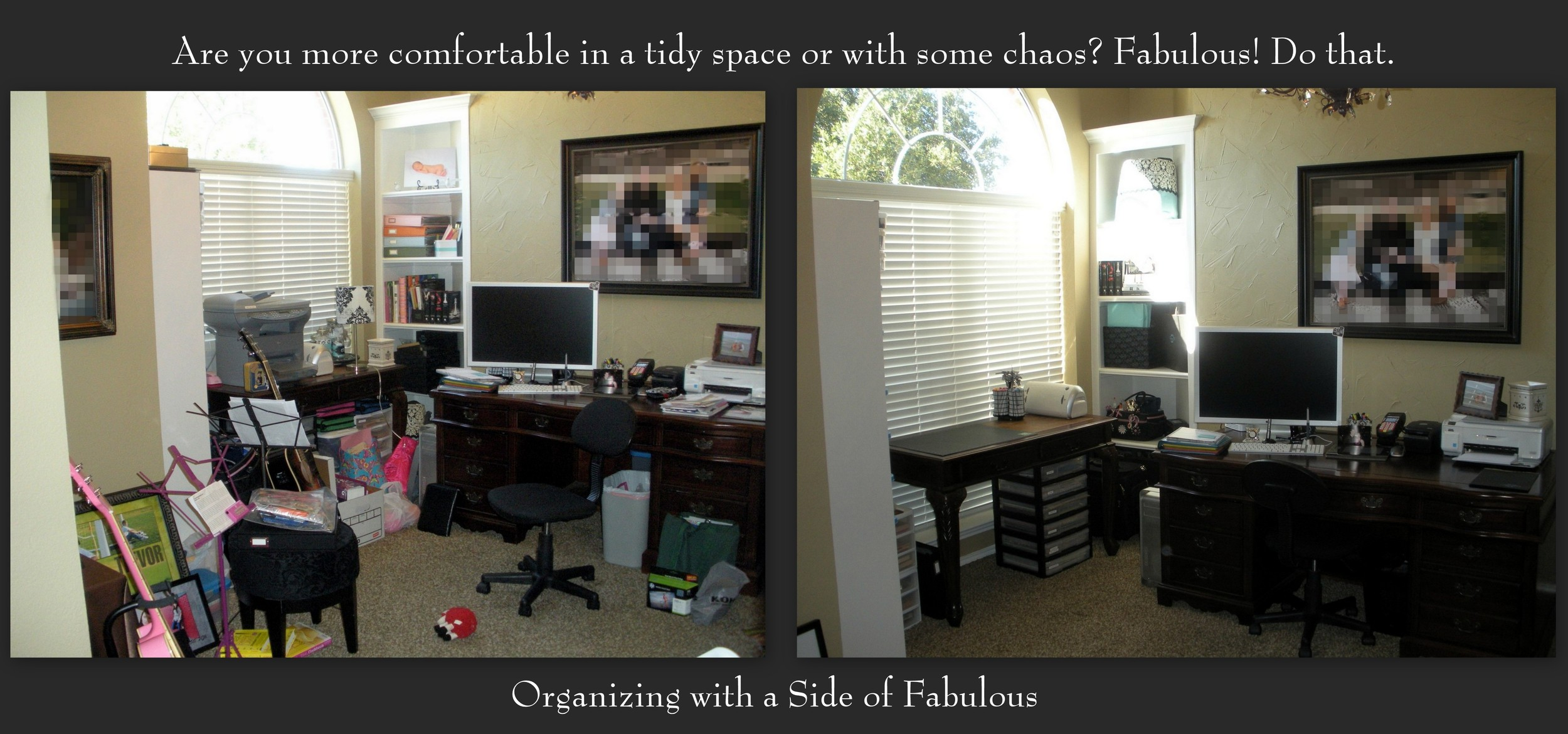 Tidy vs Messy Desk - Organizing with a Side of Fabulous Blog