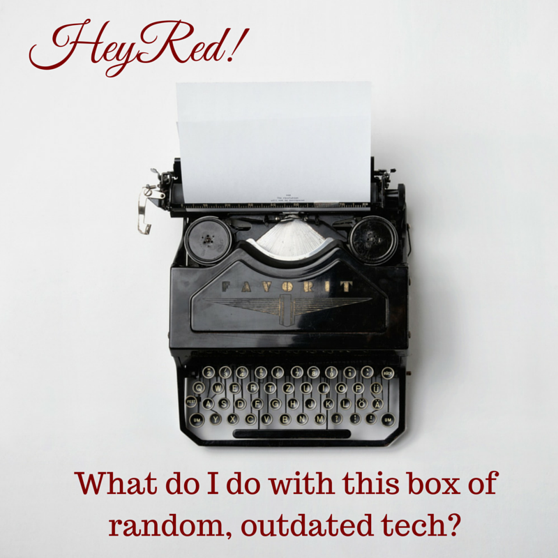 Hey Red! What do I do with this box of random, outdated tech? - Organizing with a Side of Fabulous blog