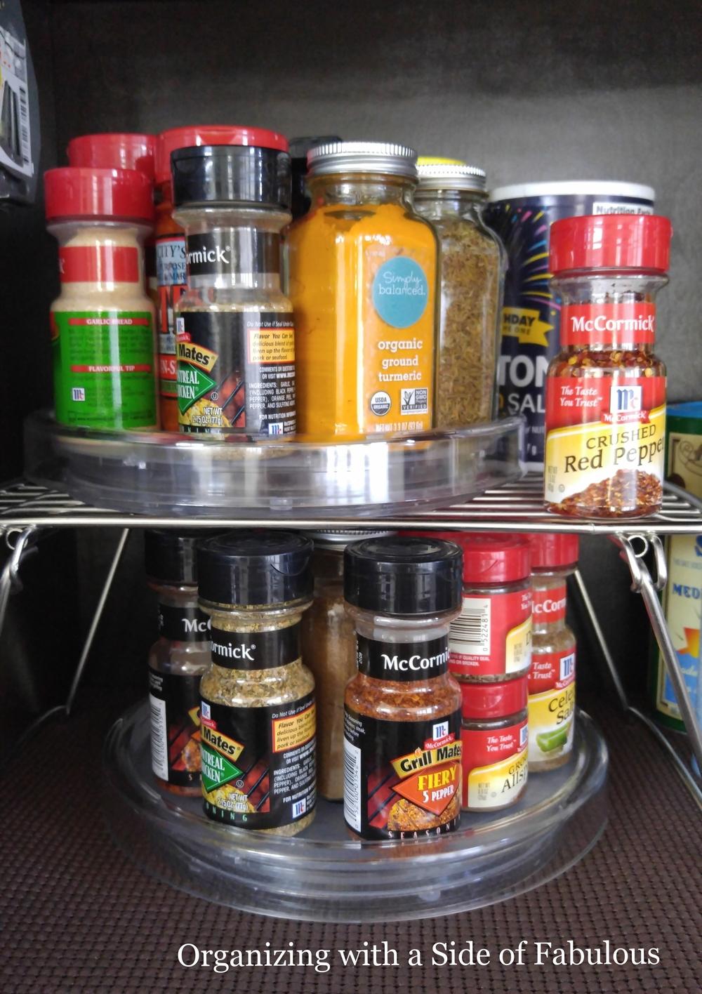 lazy susan spice organization