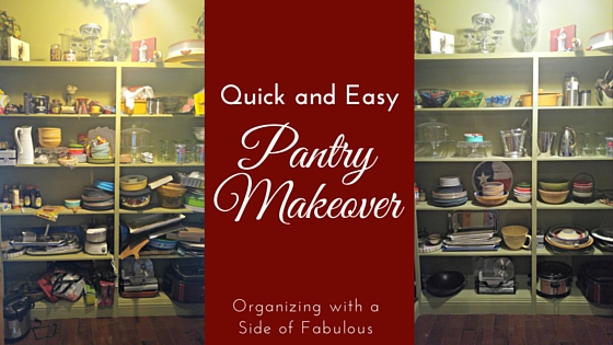 Quick and Easy Pantry Makeover