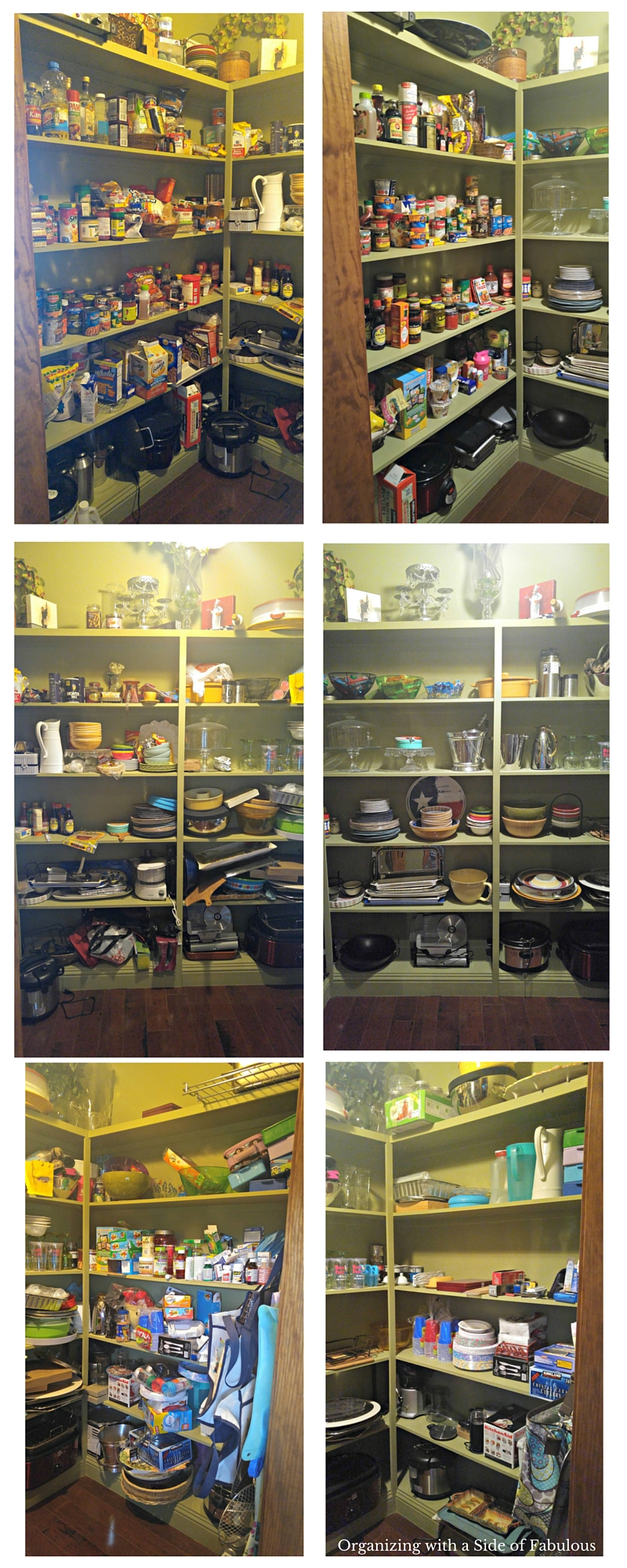 Pantry Before and After - Organizing with a Side of Fabulous