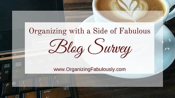Organizing with a Side of Fabulous Blog Survey