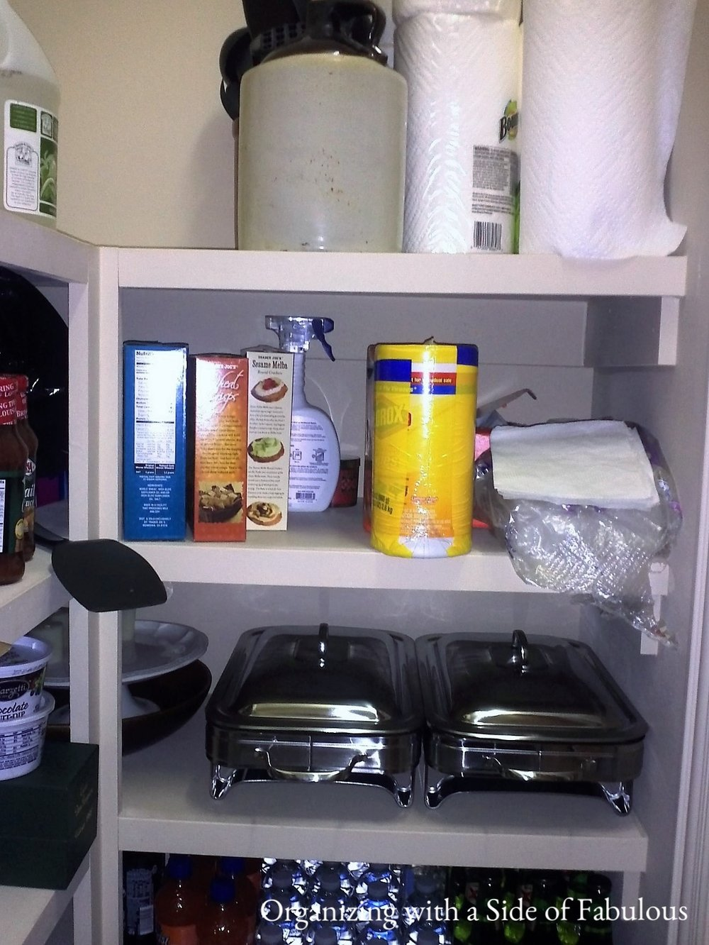 Pantry before - Organizing with a Side of Fabulous