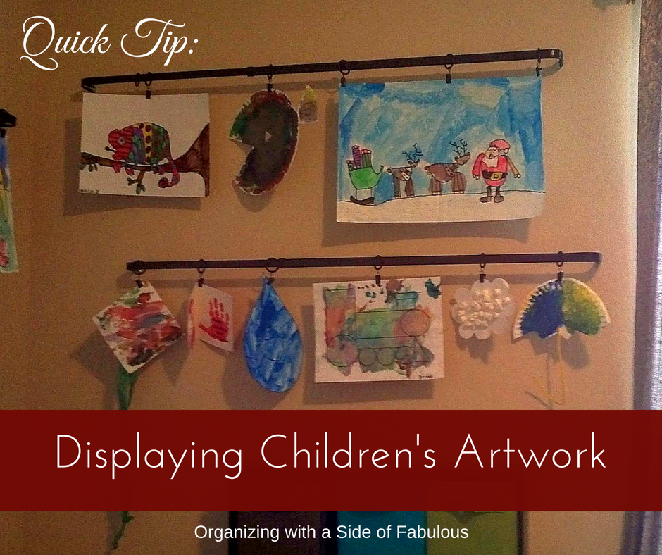 Displaying Children's Artwork - Organizing with a Side of Fabulous Blog