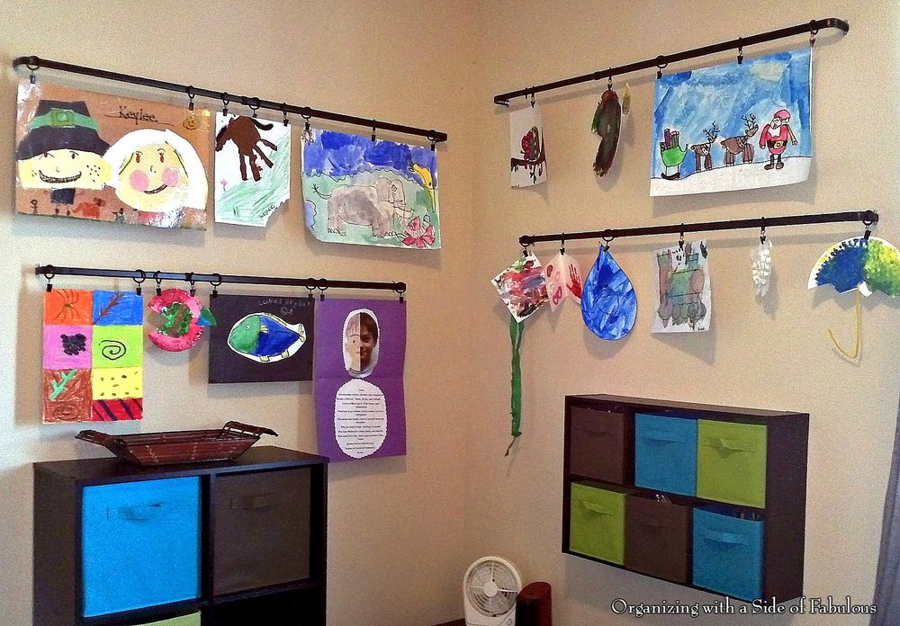 Displaying Children's Art - Organizing with a Side of Fabulous