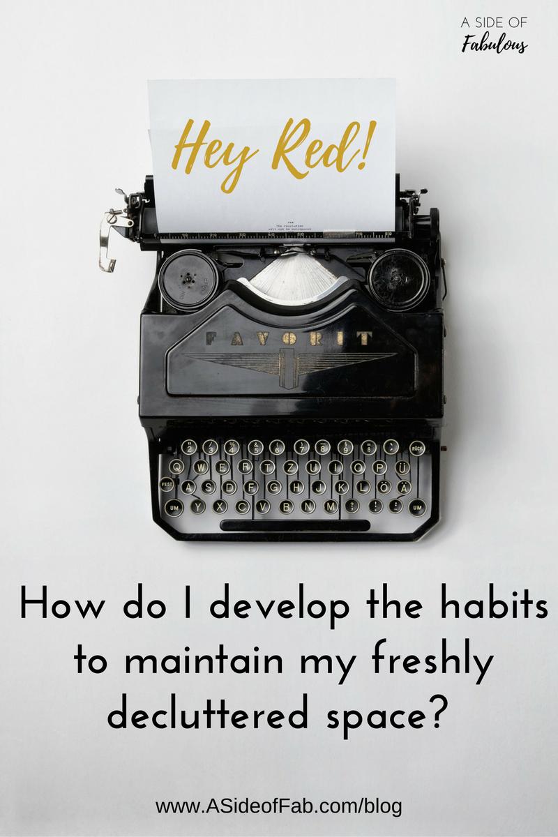 Hey Red! Decluttering Habits