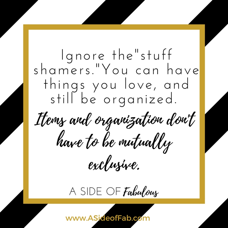 Ignore the stuff shamers  - A Side of Fabulous blog
