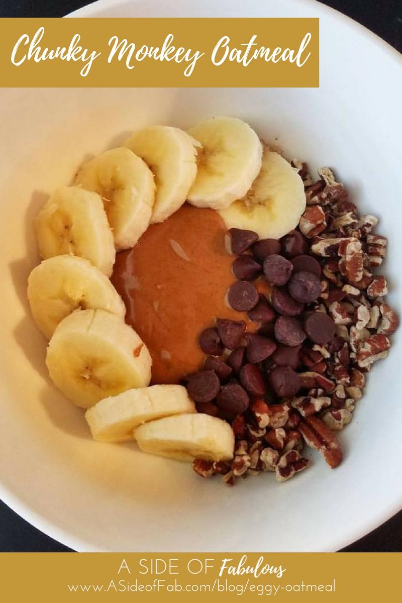 Chunky Monkey Oatmeal - A Side of Fabulous blog