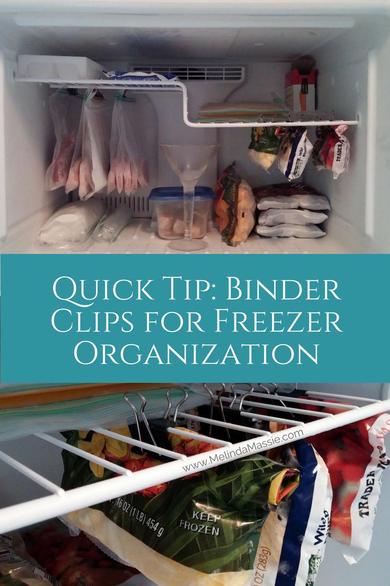 Binder Clips for Freezer Organization