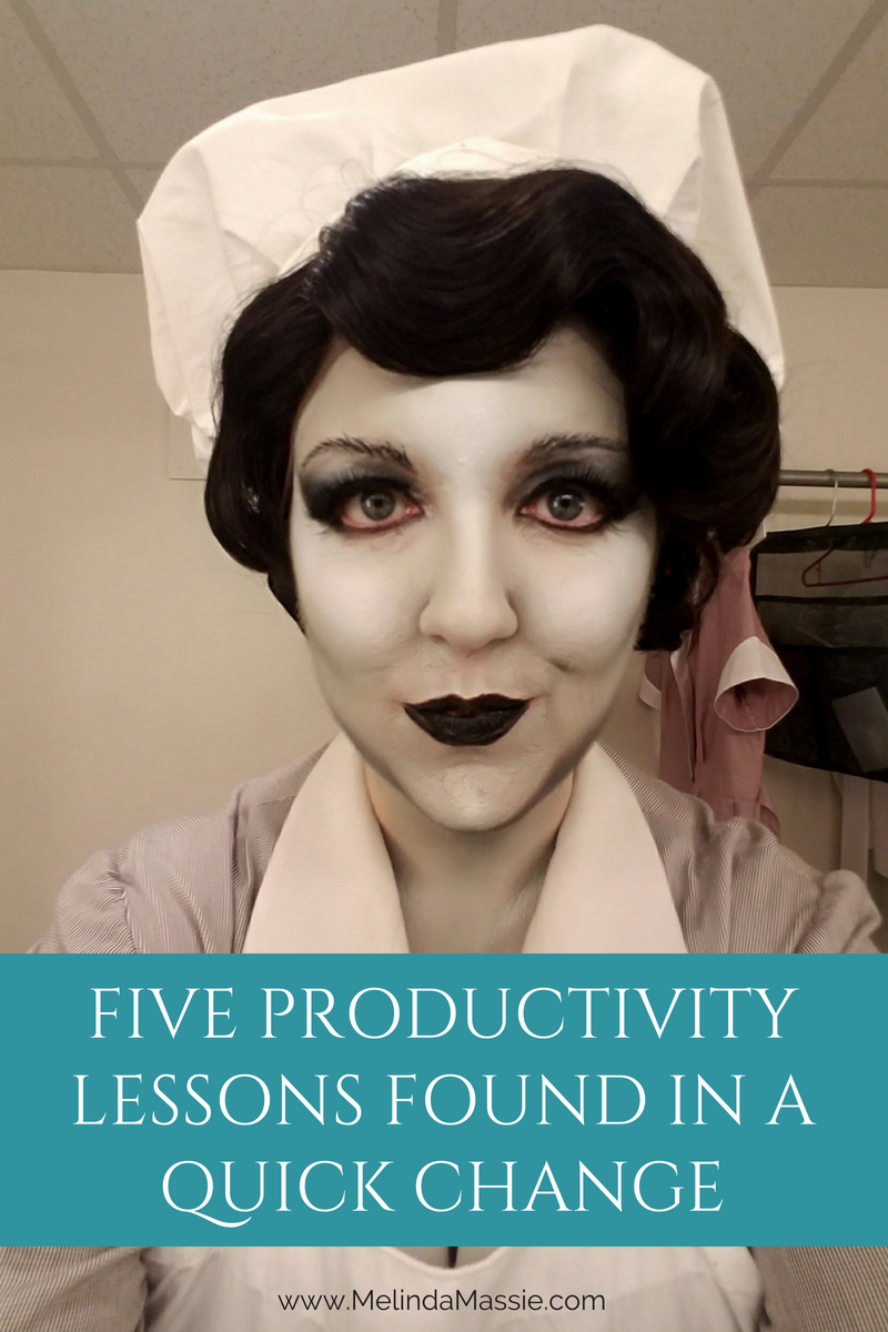 5 Productivity Lessons Found In A Quick Change - Melinda Massie Blog