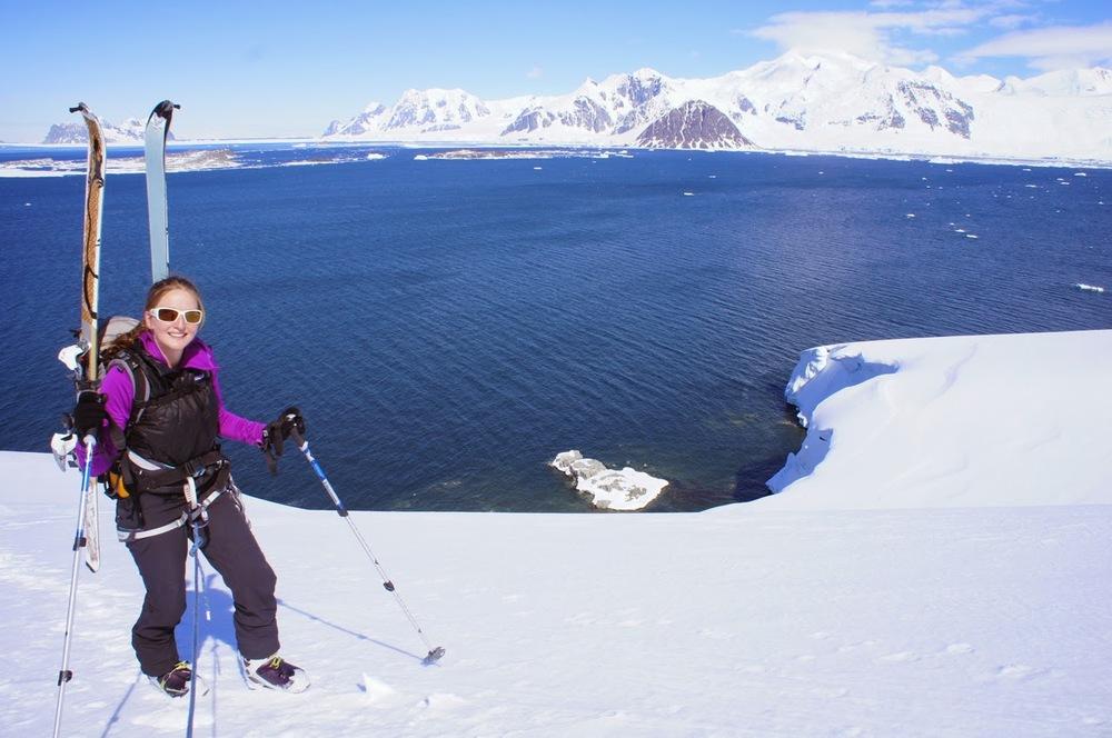 Ski mountaineering on Christmas day