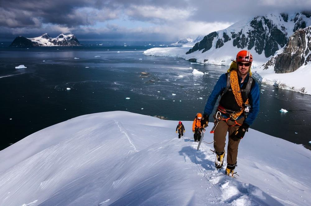 Mountaineering on Leonie Island (Photo: Cheese Rudkin)