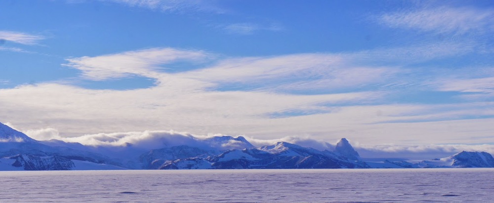 Cloud rolling off the Polar Plateau