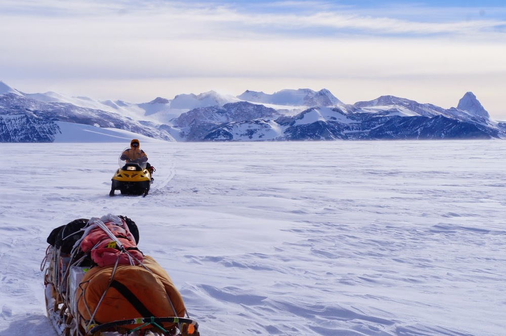 Returning to camp after a long days work in the Marble range