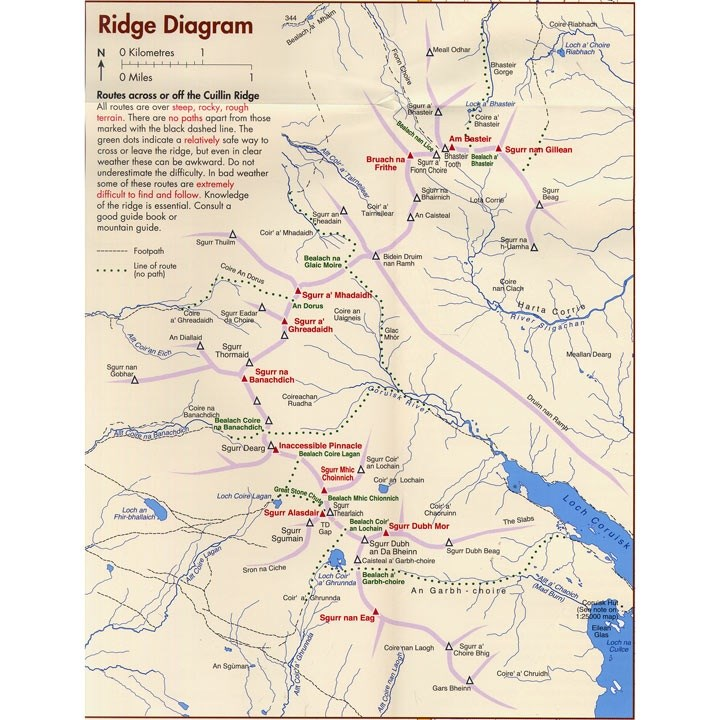 Map of the ridge