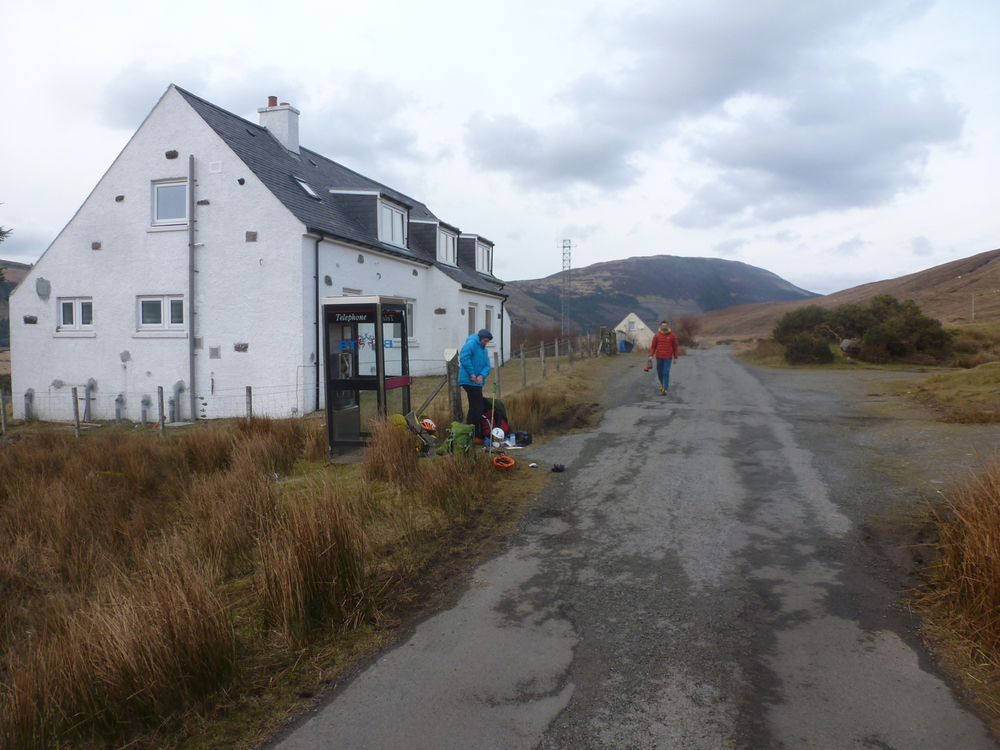 Trying to catch a lift back to the Sligachan!