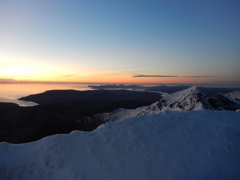 Top of the Inaccesible Pinnacle at sun-set