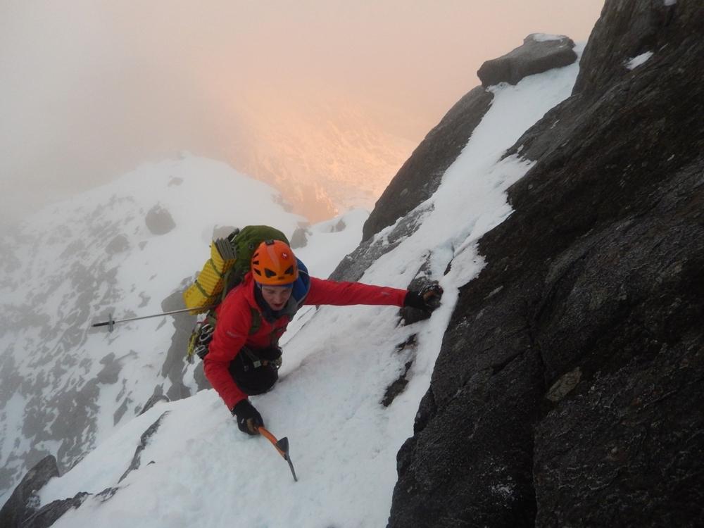 Fun exposed climbing