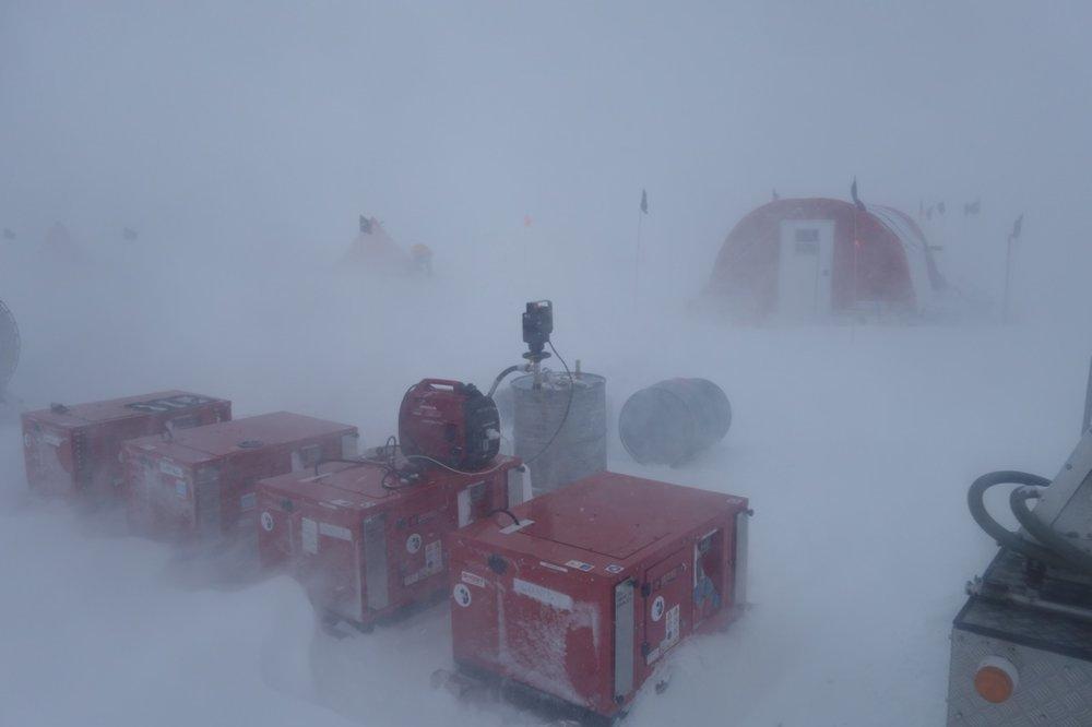 An Antarctic storm...