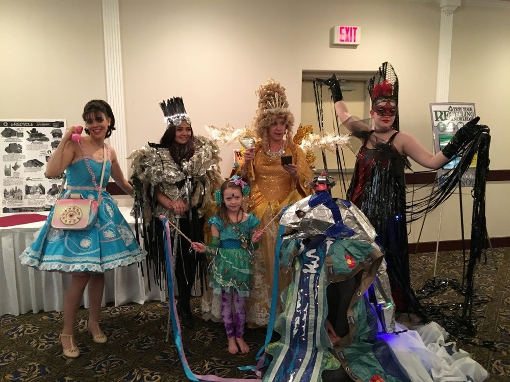Models from the wearable art show sponsored by the Valley Arts Alliance.