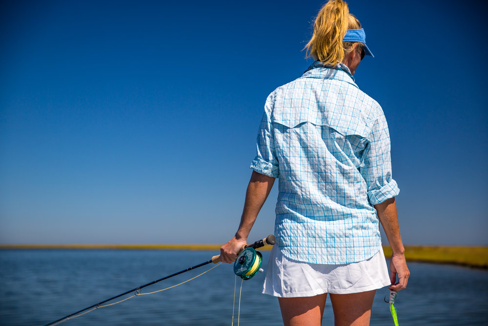 Locked and loaded in search of Louisiana redfish. Photo from Pescadora by C1 Films.