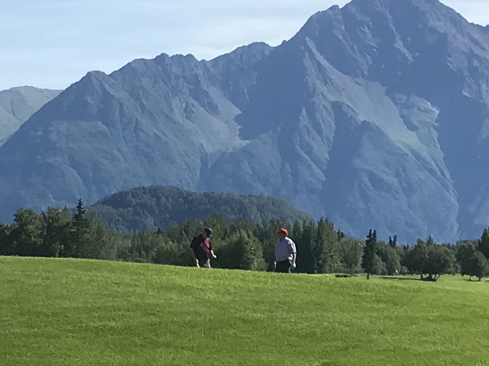 Golfing with a view!