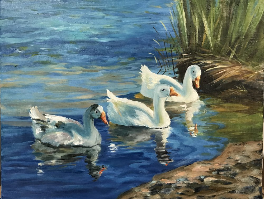 Three Swans by Michelle Cornelius