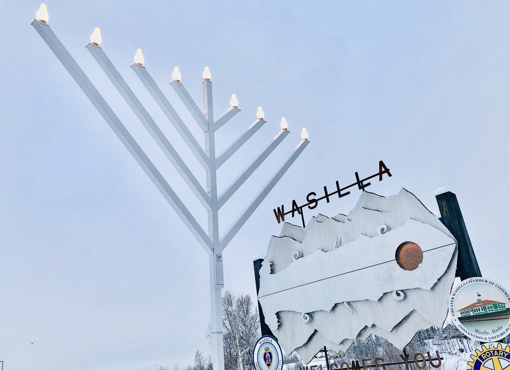 "B""H Mat-Su Jewish Center - Chabad Lubavitch  Wishes you a HAPPY CHANUKAH!  www.MatSuJewishCenter.org   (907) 350-1787"