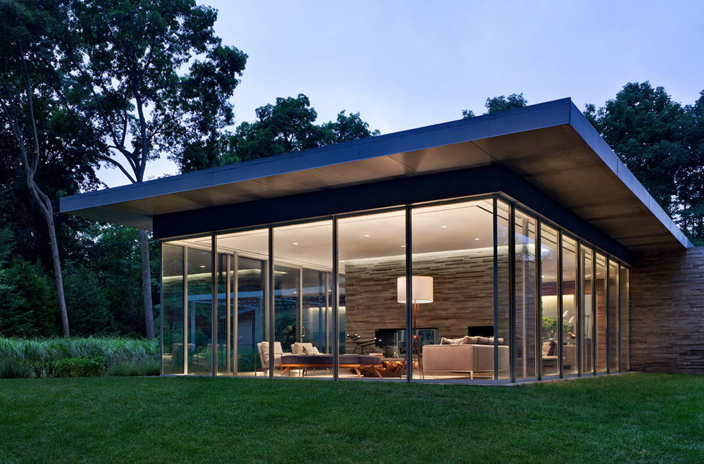 Glass Pavilion in the Landscape