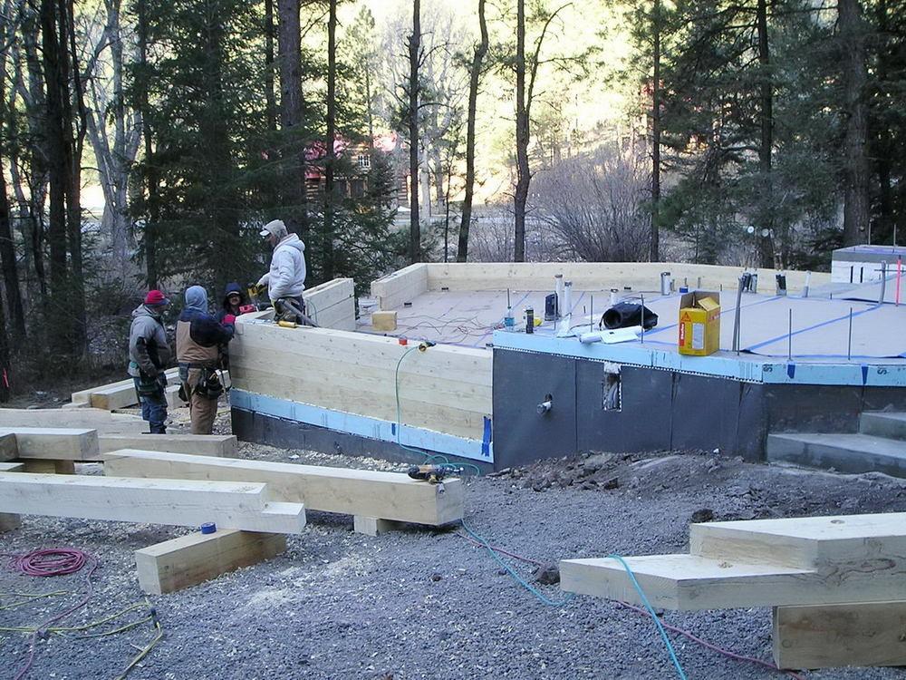 Instillation of first logs