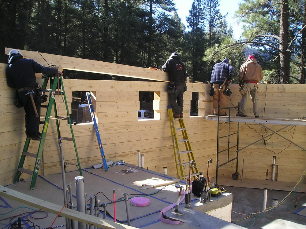 Crew Completing a Wall