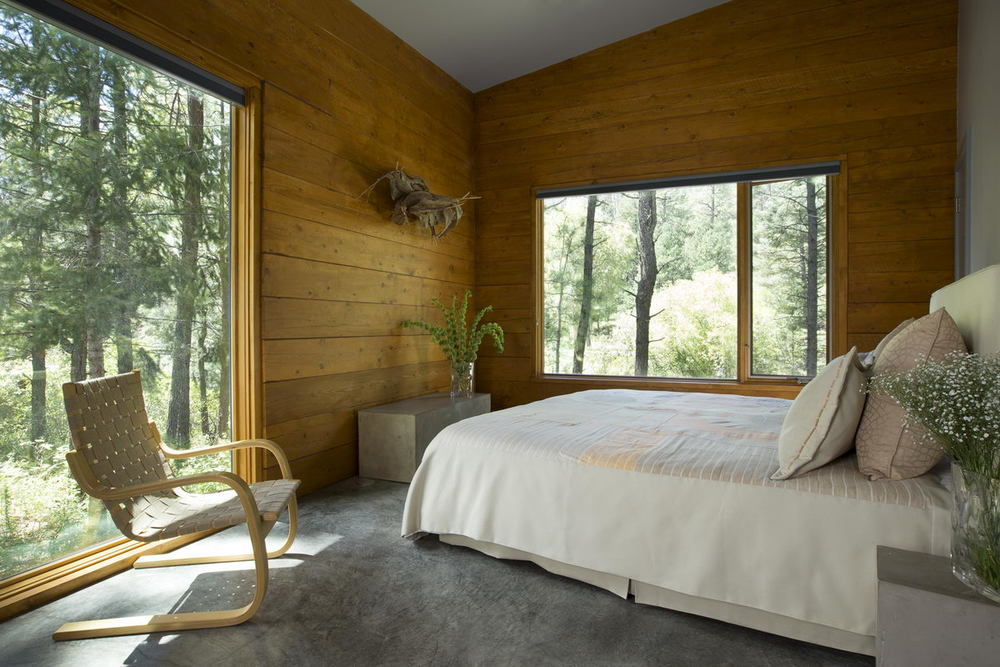 Bedroom overlooking River