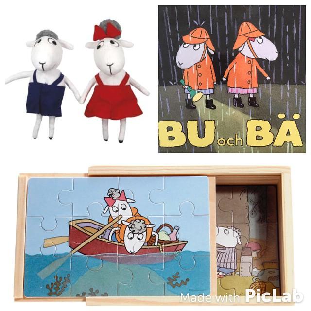 Igår anlände några av mina personliga favoriter till butiken. Bu och Bä finns nu hos oss som dockor, böcker och pussel.