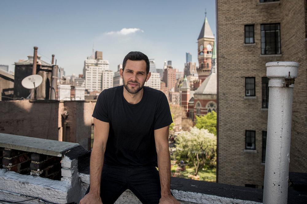 Benjamin Grant vid sitt hem i West Village, NYC ©PerOlsson