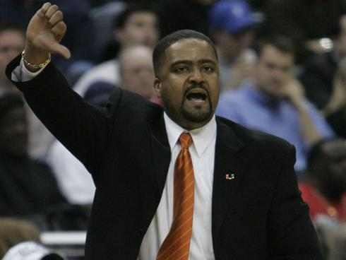 Here we see Frank Haith appropriately booing himself