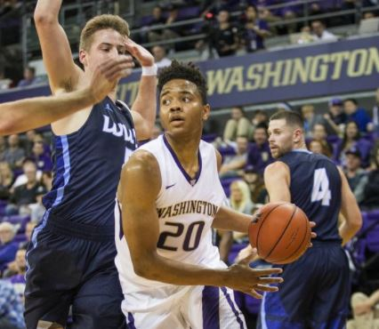 I tried to find a picture of Fultz playing defense, but those don't exist for the 2016-17 Huskies