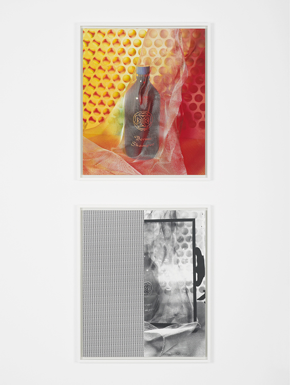 Bormo for Beca, 2015     Gelatin silver print mounted on museum board and plexi /     glossy digital c-print mounted on plexi     24 x 20 inches each (diptych)