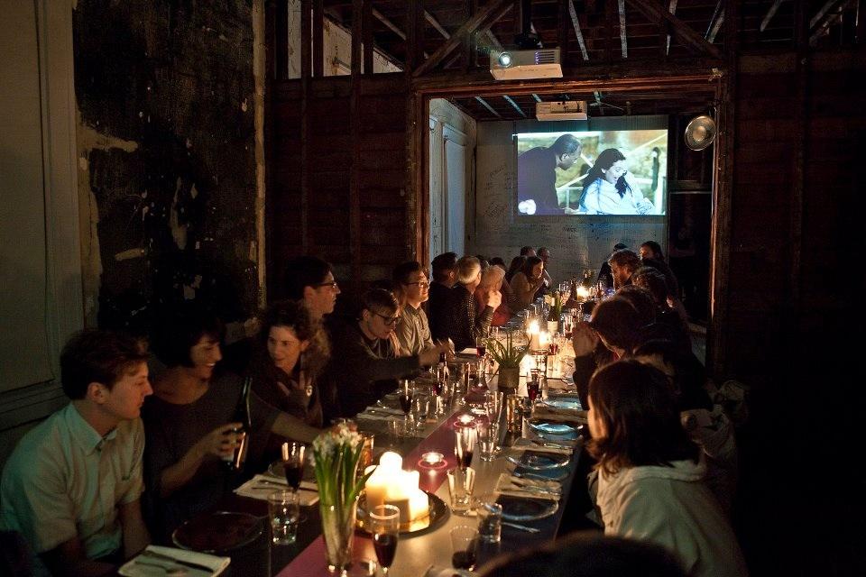 The Jettisoned dinner with installation.jpg