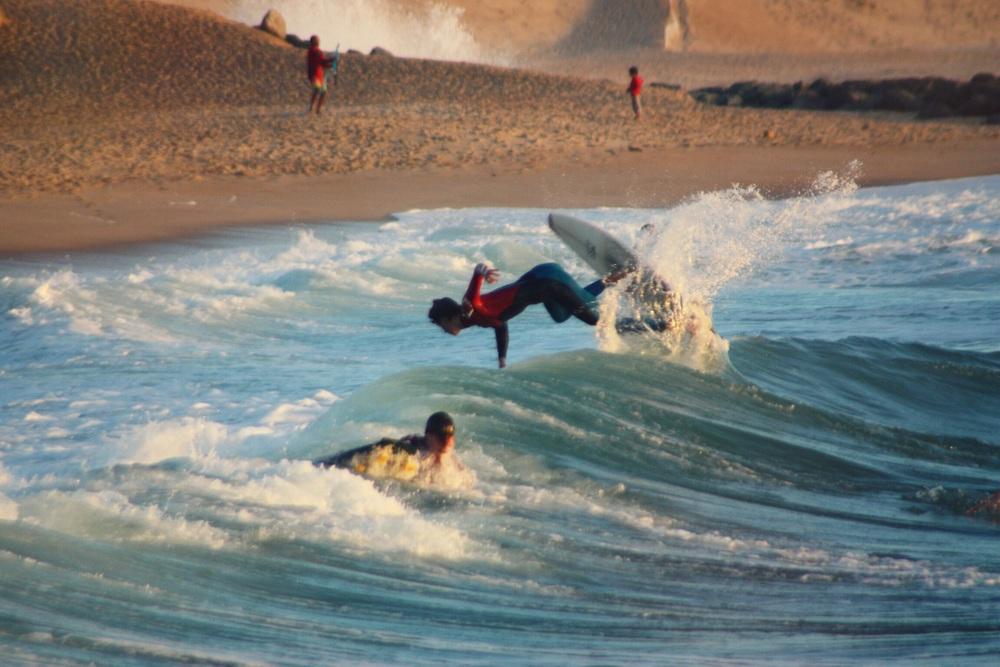 Surfing Capbreton