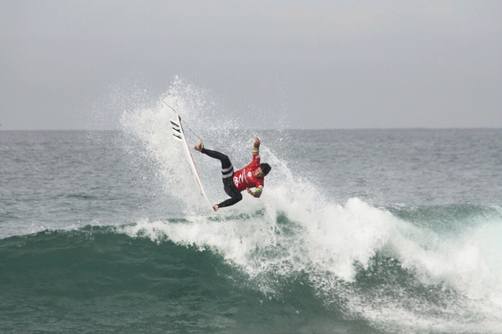 Aussie pro Julian Wlson on some tricky waves