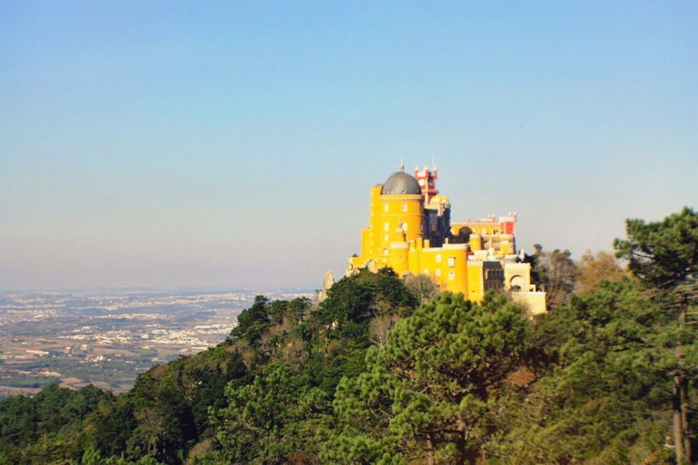 Pena Palace on top of Sintra