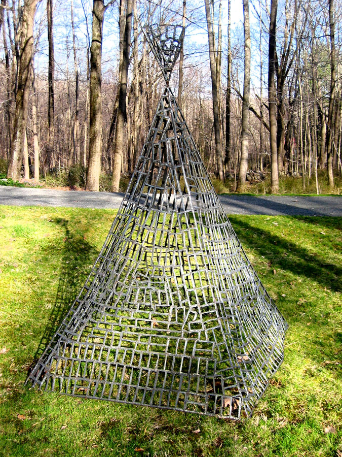 Teepee I: Welded steel rod and plate...7.7' x5.3' x 5.4'