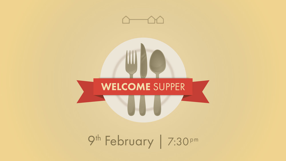 WELCOME SUPPER DESIGN   This was created for an event The Crowded House were running.