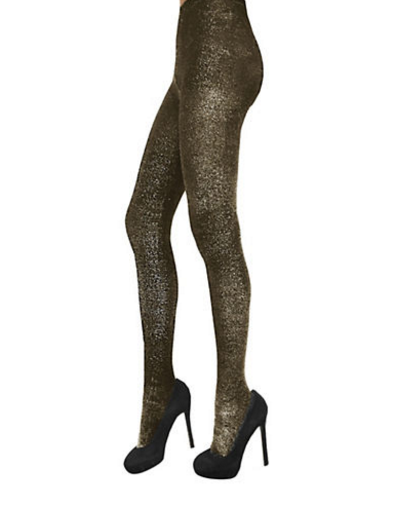 ZAC ZAC POSEN Metallic Lurex Fashion Tights