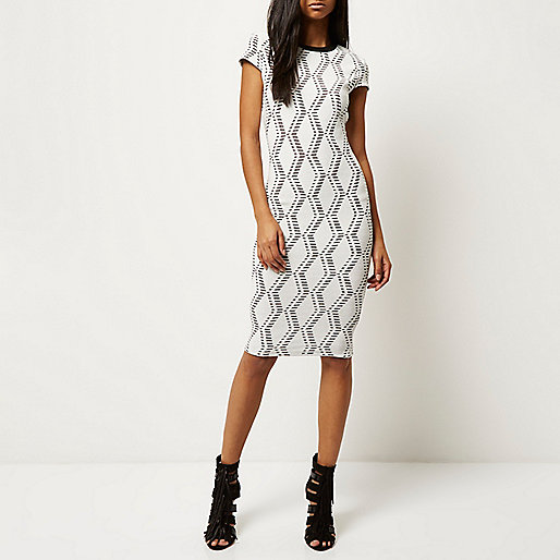 River Island_Cream jacquard bodycon midi dress - model.jpeg