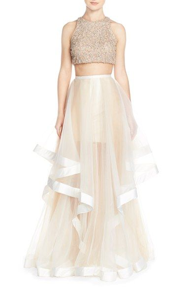Glamour by Terani Couture Beaded Top & Organza Two-Piece Ballgown.jpg