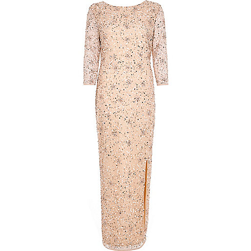 River Island_Light pink bead embellished maxi dress.jpeg
