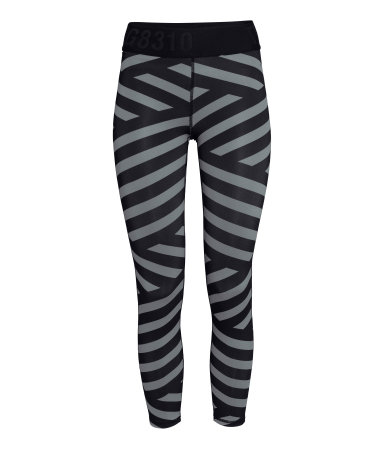 H&M Striped Sports Tights