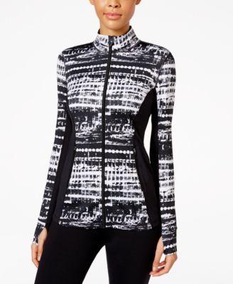 Ideology Printed Zip-Front jacket